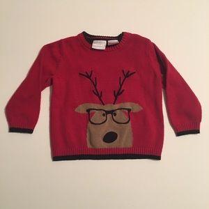 Koala Kids Christmas Embroidered Reindeer Sweater